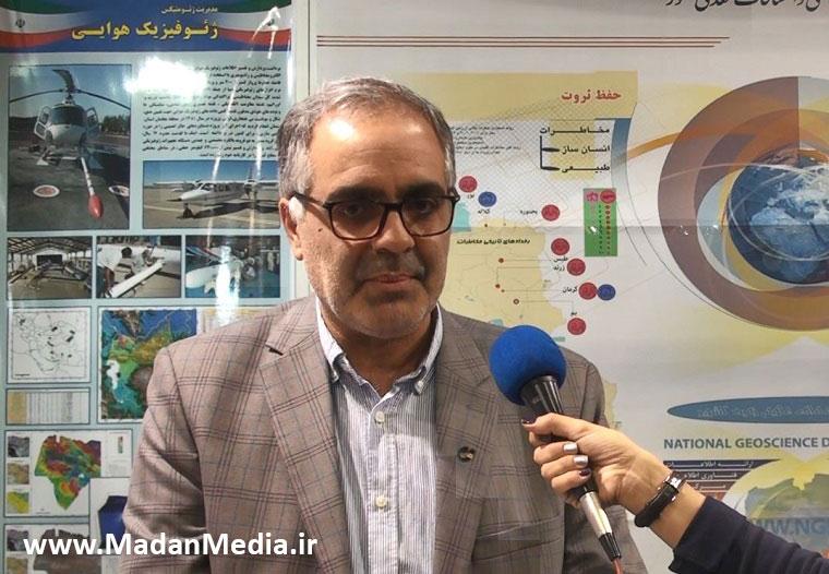 علیرضا شهیدی رئیس سازمان زمین شناسی در نمایشگاه معدن رینوتکس (ربع رشیدی) 2019