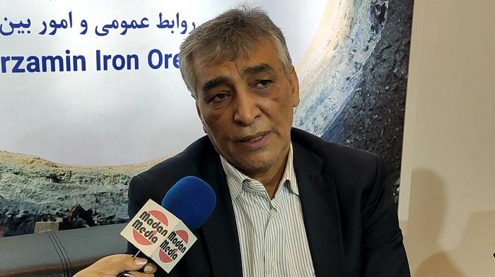 علی اکبر پوریانی مدیرعامل شرکت سنگ آهن گهرزمین